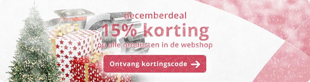 Decemberdeal 15% korting in de webshop